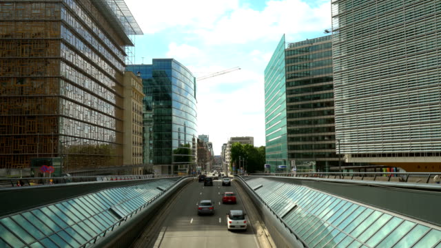 Business Districtt in Brussels video