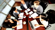 Business Executive Pep Talk in Boardroom Meeting video