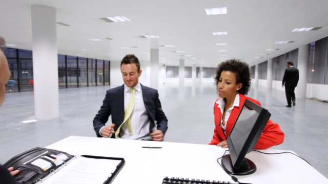 Business financial meeting video