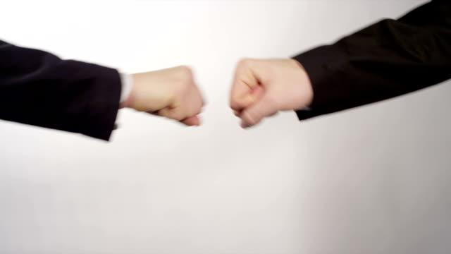 Business fist bump video