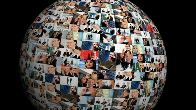 Business globe video
