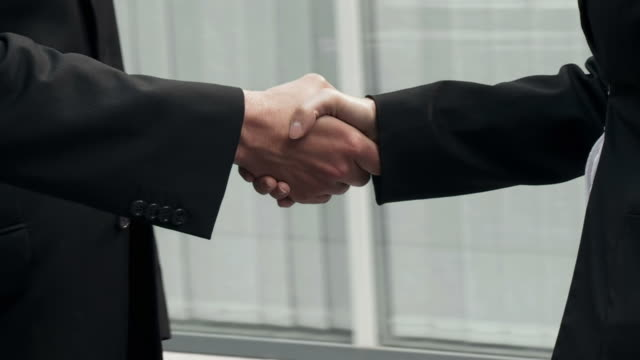 HD SLOW-MOTION: Business Handshake video