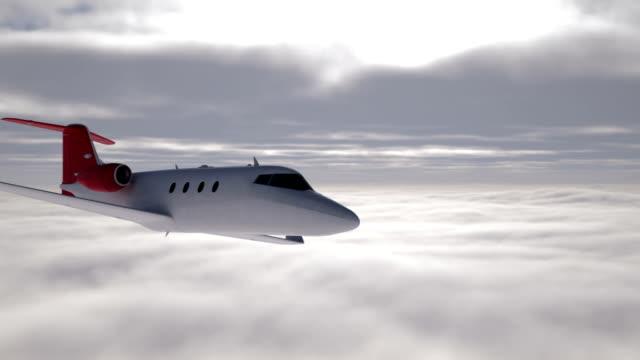 Business jet in flight video