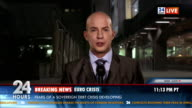 HD: Business Journalist On Location At Night video