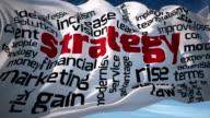 Business Keywords Flag video