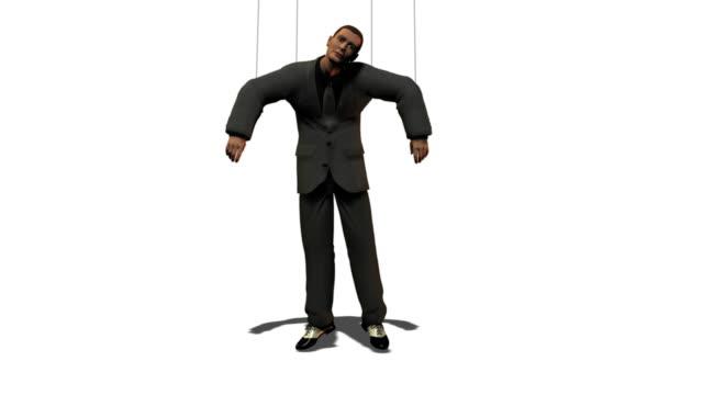 Business Man as Puppet video