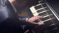 Business Man Playing the Piano video