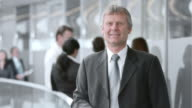 SLO MO DS Business man portrait video