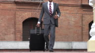 Business Man With Luggage video