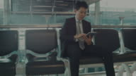Business man working with a digital tablet video