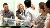 Business meeting and handshake video