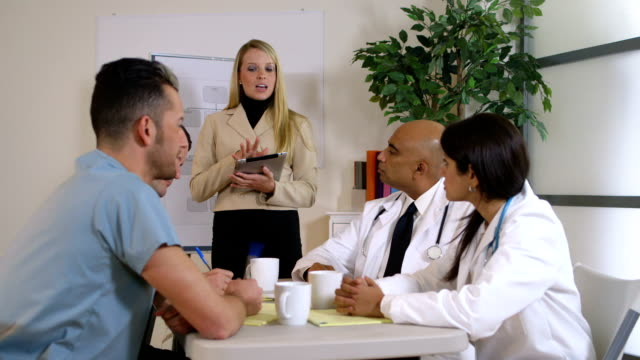 Business meeting with doctors video