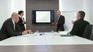 HD DOLLY: Business Meeting With Presentation video