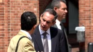 Business Men Talking In Urban Area video