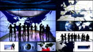 Business Monitors Montage, Loop video