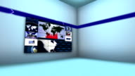 Business Montage in Monitors and Room video