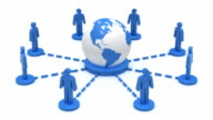 Business network Earth video