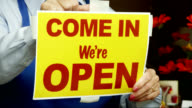 Business Open Sign video