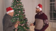 business partners celebrate winter holiday video