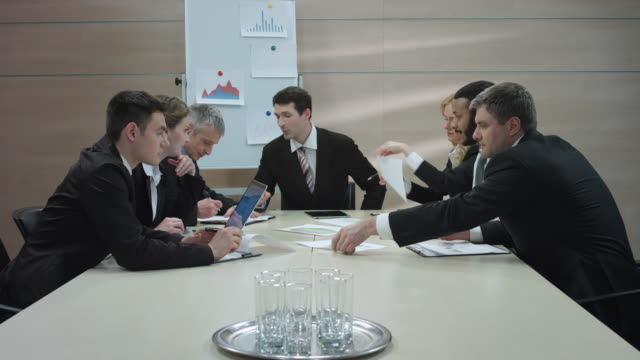 Business partners meeting. video