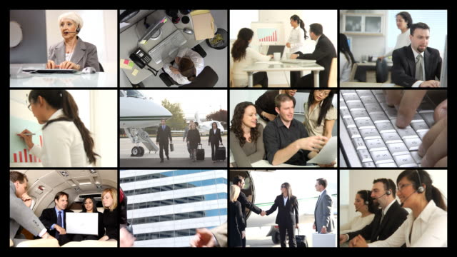 Business people at work, video montage video