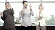 Business People Dancing in Office video
