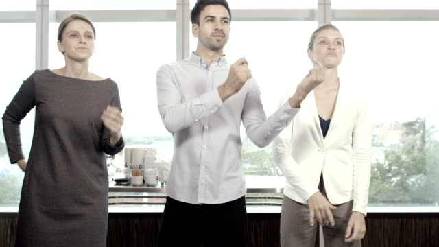 Business People Dancing video