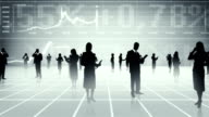 Business people, global communication. video