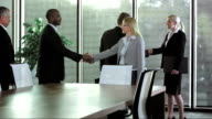 PAN LS Business People Greet In The Board Room video