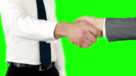 Business people handshaking video