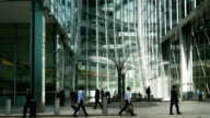 Business People In London Canary Wharf (4K/UHD to HD) video