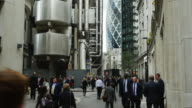 Business People In London Lime Street (UHD) video