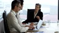 Business people in meeting video