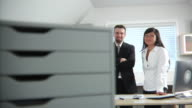 Business people in office portriat video