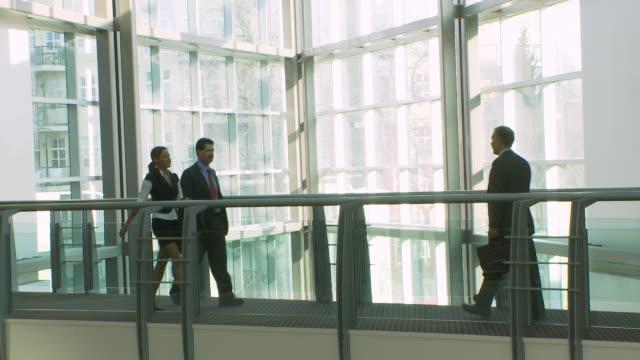 Business people meet video