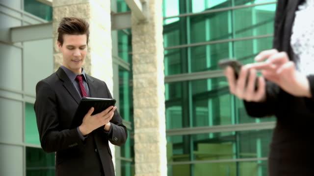 Business people meeting using tablet video