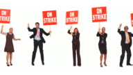 HD LOOP MONTAGE: Business People On A Strike video