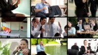 HD MONTAGE: Business People Using Mobile Phones video