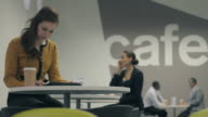 Business people working in Café video