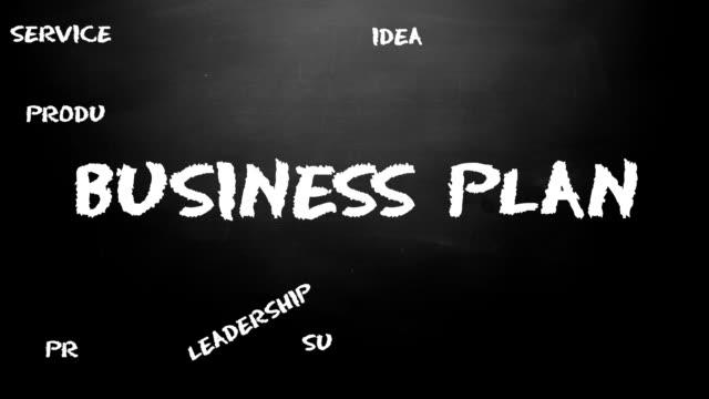 Business plan chalk board loop animation. video