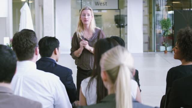 Business presentation seminar event video