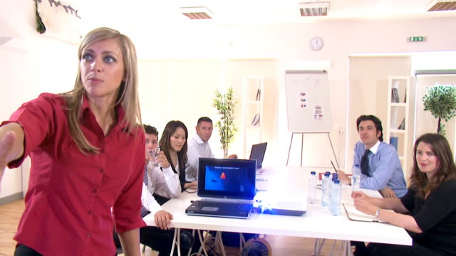 Business presentation to staff video