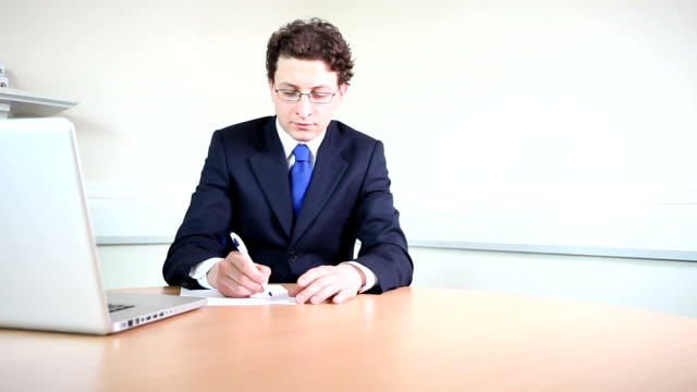 Business professional in meeting video