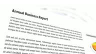 3D Business Report With Animated Background video