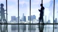 LA Business Silhouette video