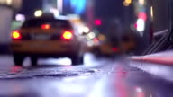 Business Taxi NYC Slow-mo video