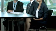 Business Team Applauding in Office video