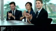Business Team Applauding video