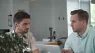 Business team brainstorming video