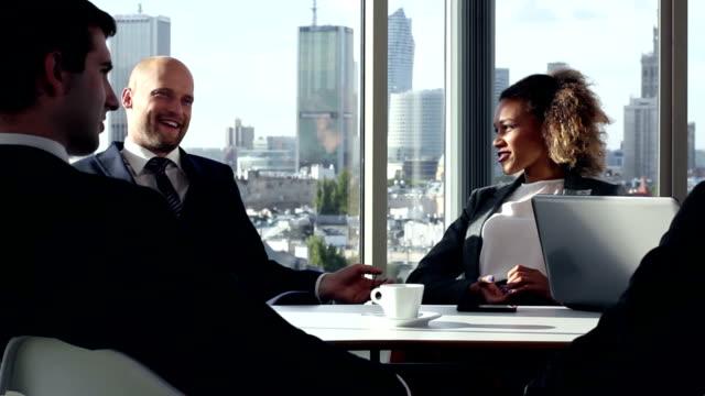 Business Team having a meeting video